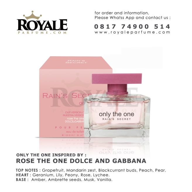 Only The One Pink Rain's Secret Parfume USA