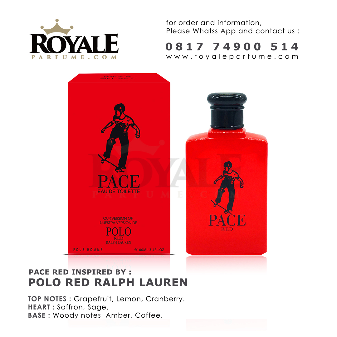 4.ROYALEPARFUME.COM RAIN'S SECRET PARFUM (USA) PACE RED INSPIRED BY POLO RED RALPH