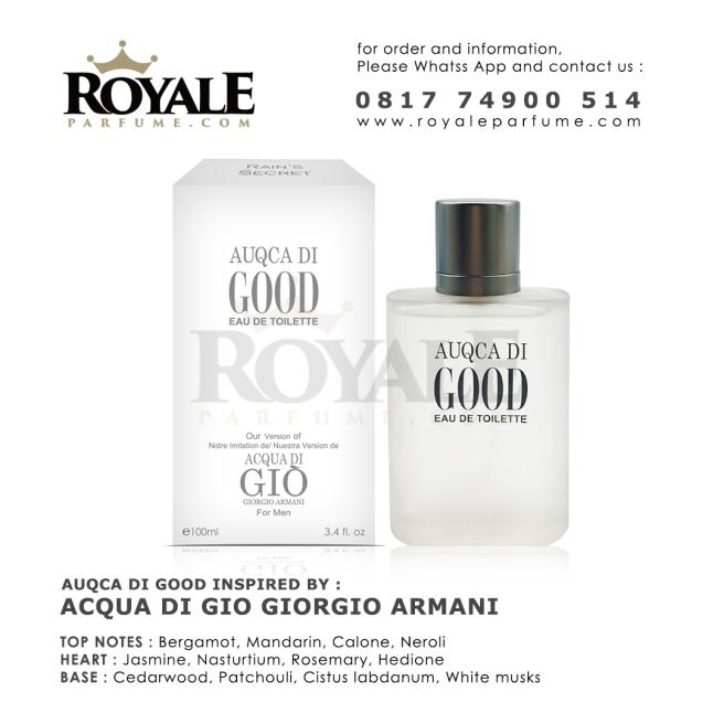 5.ROYALEPARFUME.COM RAIN'S SECRET PARFUM (USA) AUQCA DI GOOD INSPIRED BY ACQUA DI GIO GIORGIO ARMANI