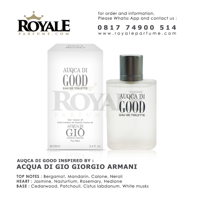 AUQCA DI GOOD Rain's Secret Parfume USA