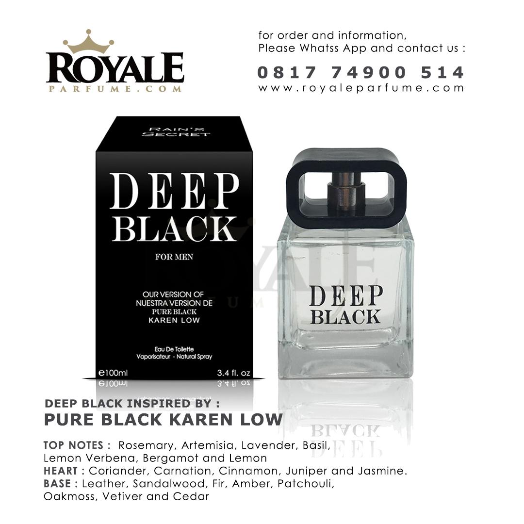 1.ROYALEPARFUME.COM RAIN'S SECRET PARFUM (USA) DEEP BLACK FOR MEN INSPIRED BY PURE BLACK KAREN LOW