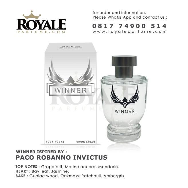 6.ROYALEPARFUME.COM RAIN'S SECRET PARFUM (USA) WINNER INSPIRED BY PACO ROBANO INVICTUS