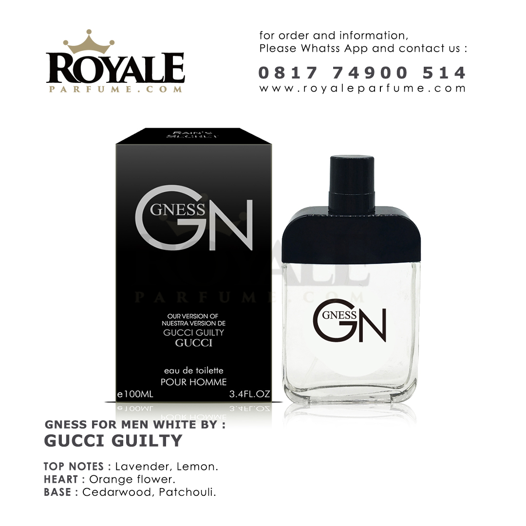 7.ROYALEPARFUME.COM RAIN'S SECRET PARFUM (USA) GN WHITE INSPIRED BY GUCCI GUILTY