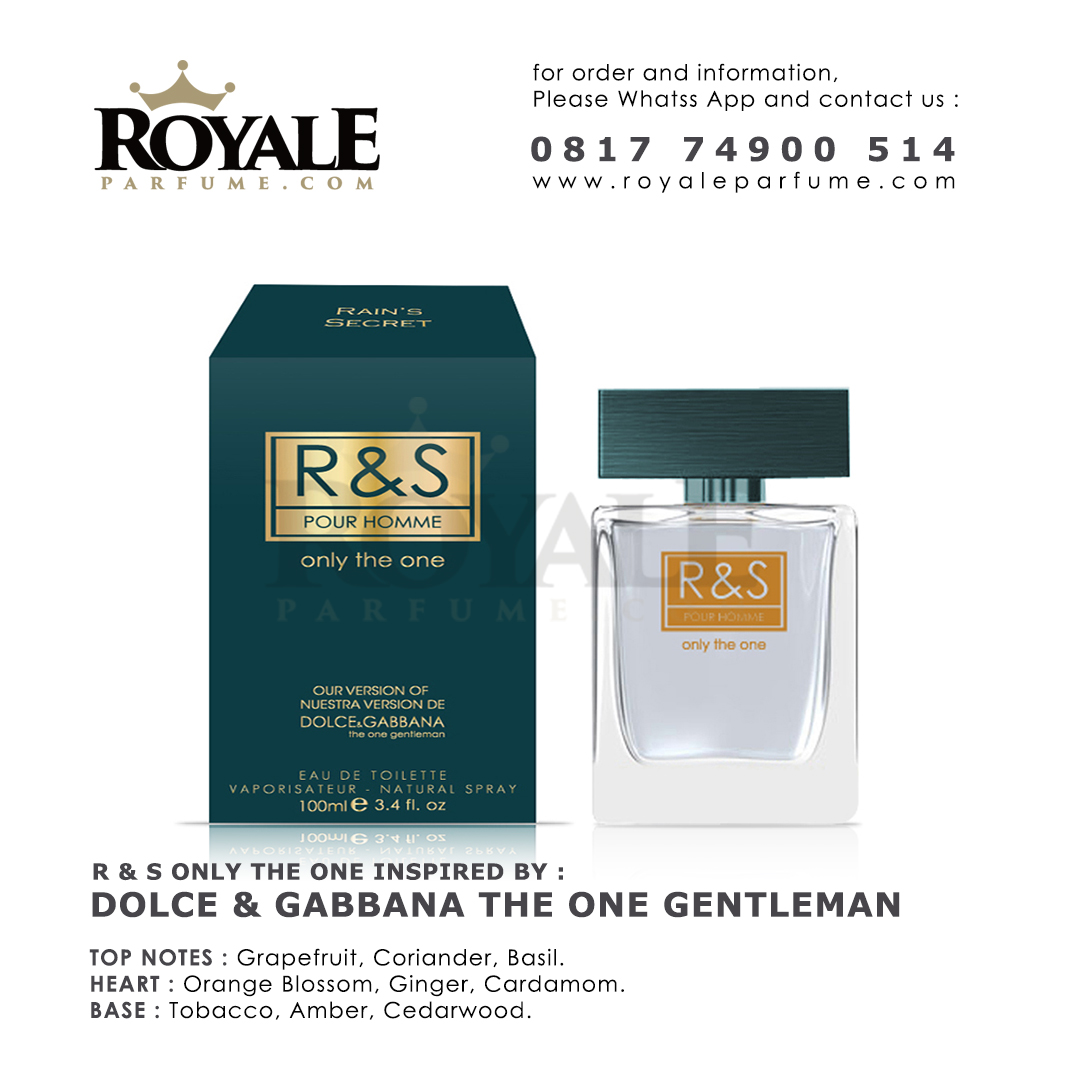 8.ROYALEPARFUME.COM RAIN'S SECRET PARFUM (USA) R&S ONLY THE ONE INSPIRED BY DOLCE & GABBANA THE ONE GENTLE MAN