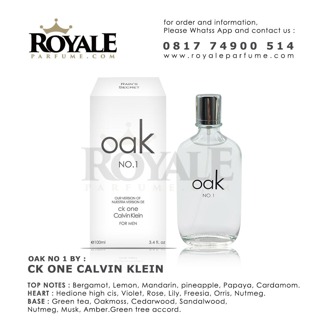 9.ROYALEPARFUME.COM RAIN'S SECRET PARFUM (USA) OAK THE ONE INSPIRED BY CK ONE CALVIN KLEIN
